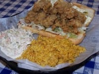 One dozen crispy fried oysters make this a mouth-watering sandwich!