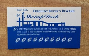 Shrimp Dock Customer Loyalty Card
