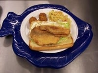 Knoxville Shrimp Dock fish sandwich
