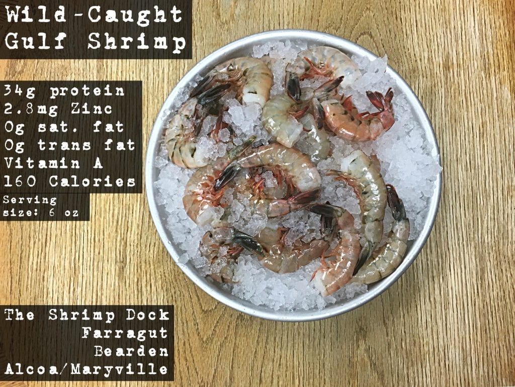 Wild Caught Gulf Shrimp available at the Shrimp Dock